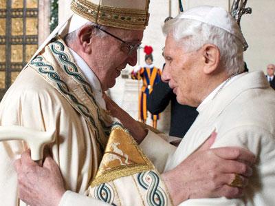 Papa assume admiração por Bento XVI