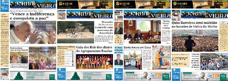 2016 nas primeiras páginas do JORNAL DE VIEIRA
