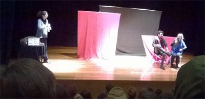 Teatro interactivo no auditório de Vieira