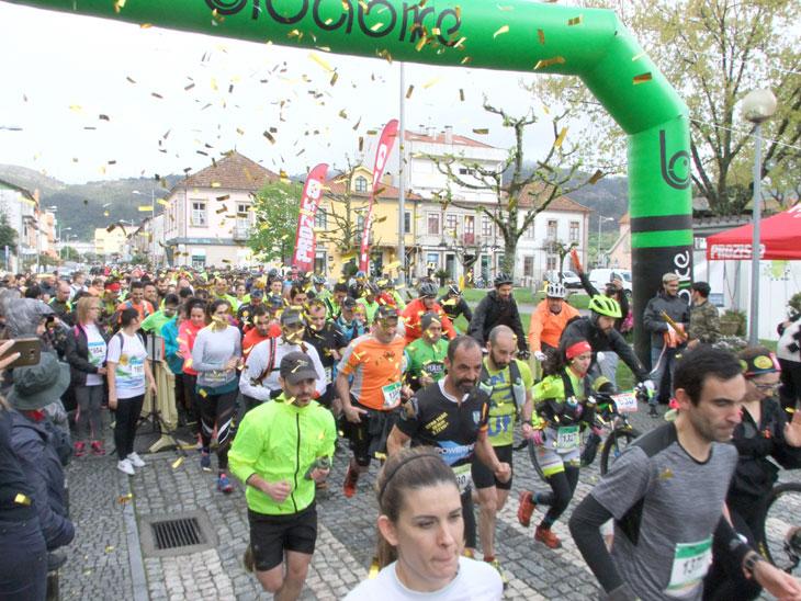 Centenas de participantes no Cabreira Challenge