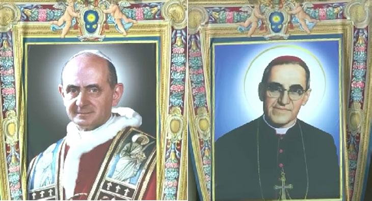 Novos santos Paulo VI e Óscar Romero
