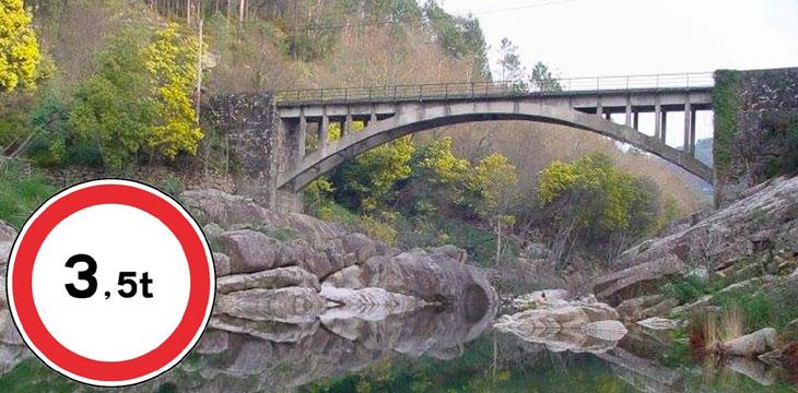 Ponte de Parada limitada a veículos ligeiros