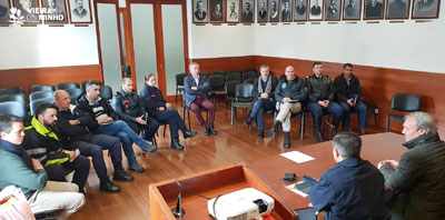 Operacionais Protecção Civil em Vieira