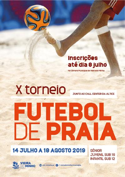 X.º Torneio de Futebol de Praia