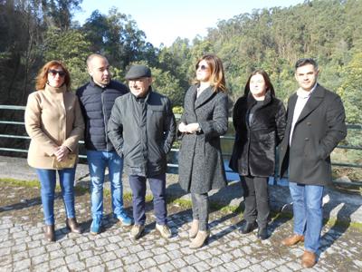 PS visita ponte do Bôco no 1º aniversário do seu encerramento