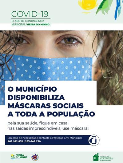Município oferece máscaras a toda a população