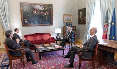 Associação de Imprensa de Inspiração Cristã  recebida pelo Presidente da República