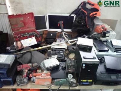 GNR recupera material furtado em residências de Vieira