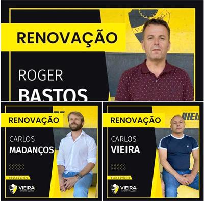 Roger Bastos e adjuntos renovam pelo Vieira SC
