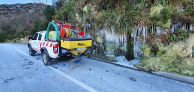 Câmara espalha toneladas de sal-gema nas estradas