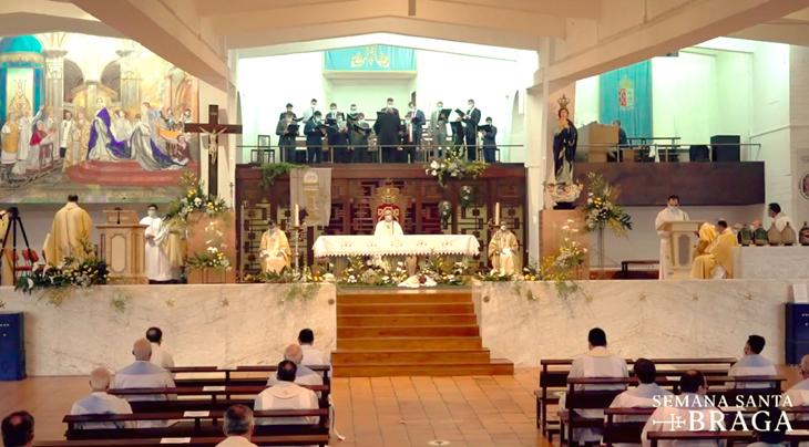 Arcebispo presidiu à missa crismal na cripta do Sameiro