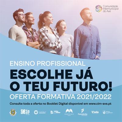 Oferta formativa do Ensino Profissional para o ano lectivo de 2021/22
