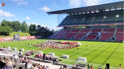 Alunos do Colégio D. Diogo fazem a Primeira Comunhão no Estádio Municipal de Braga