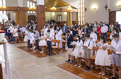 Comunhões e Profissões de Fé na paróquia de Vieira