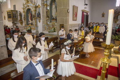Festa da Eucaristia na paróquia de Guilhofrei